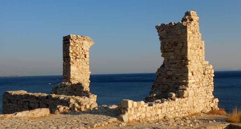 Beeindruckende Ruinen auf Samos in Pythagorion